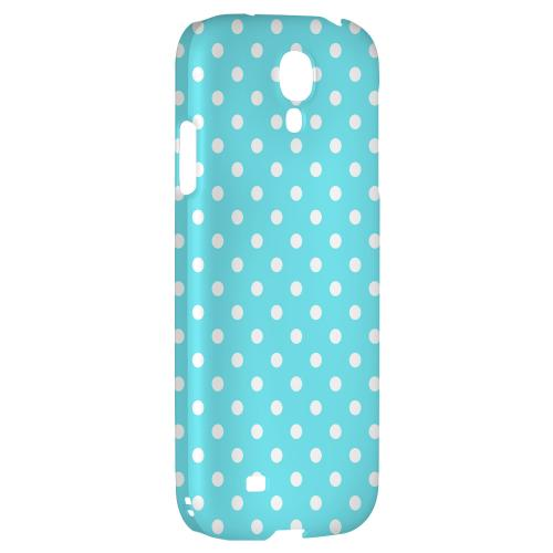 White Dots on Turquoise - Geeks Designer Line Polka Dot Series Hard Back Case for Samsung Galaxy S4