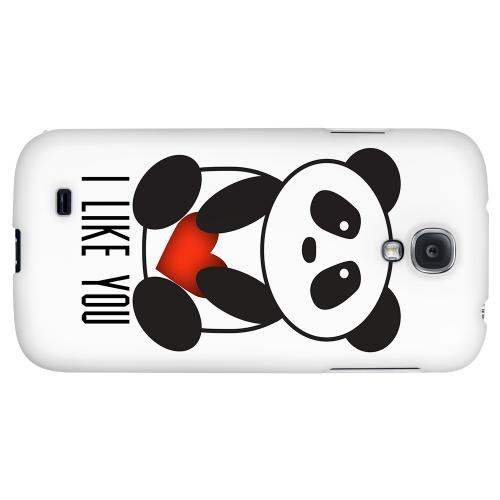 I Like You Panda - Geeks Designer Line Heart Series Hard Back Case for Samsung Galaxy S4