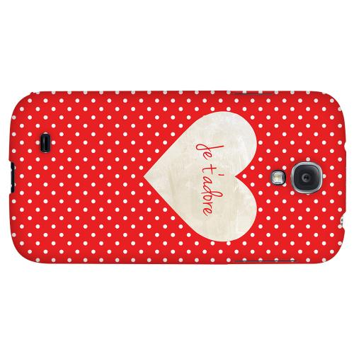 Je t'adore - Geeks Designer Line Heart Series Hard Back Case for Samsung Galaxy S4