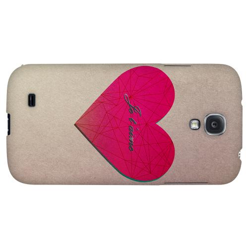 Je t'aime - Geeks Designer Line Heart Series Hard Back Case for Samsung Galaxy S4