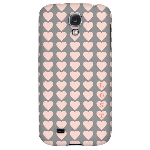 Lost in Love - Geeks Designer Line Heart Series Hard Back Case for Samsung Galaxy S4