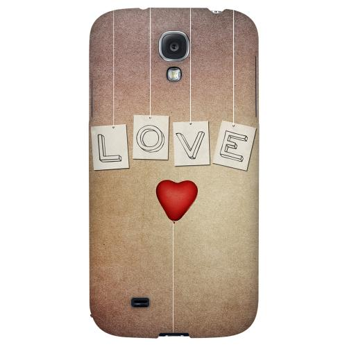 Love & Heart Balloon - Geeks Designer Line Heart Series Hard Back Case for Samsung Galaxy S4