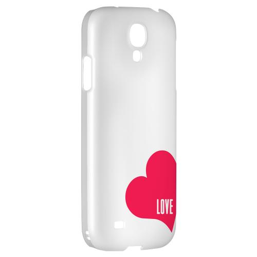 Love Heart - Geeks Designer Line Heart Series Hard Back Case for Samsung Galaxy S4