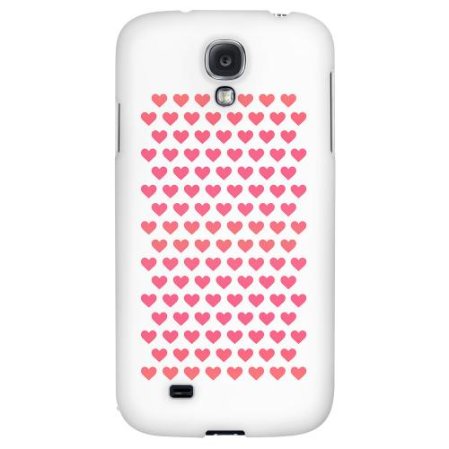Miniature Hearts - Geeks Designer Line Heart Series Hard Back Case for Samsung Galaxy S4