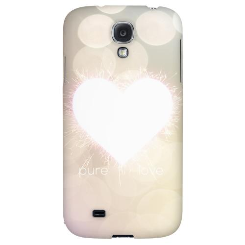 Pure Love - Geeks Designer Line Heart Series Hard Back Case for Samsung Galaxy S4