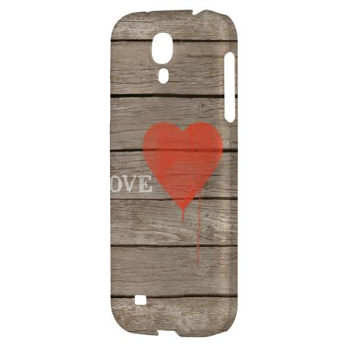 Rustic Love - Geeks Designer Line Heart Series Hard Back Case for Samsung Galaxy S4