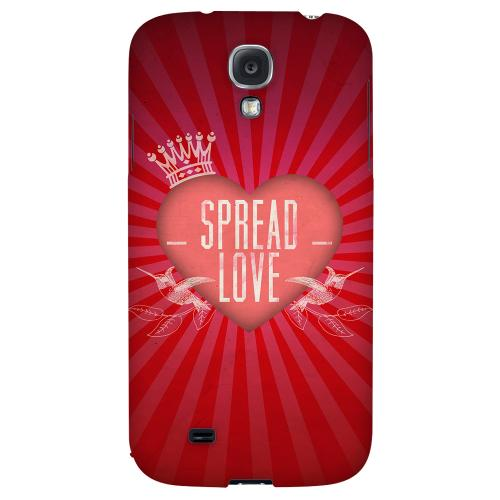 Spread Love - Geeks Designer Line Heart Series Hard Back Case for Samsung Galaxy S4