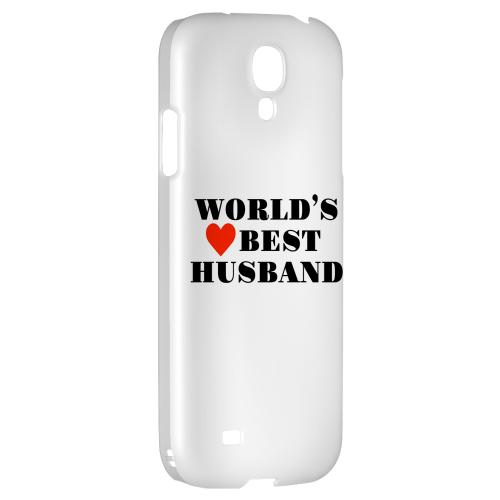World's Best Husband - Geeks Designer Line Heart Series Hard Back Case for Samsung Galaxy S4
