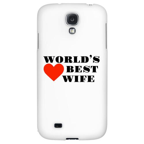World's Best Wife - Geeks Designer Line Heart Series Hard Back Case for Samsung Galaxy S4