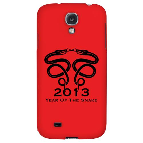 Dual Snake on Red - Geeks Designer Line Chinese Horoscope Series Hard Back Case for Samsung Galaxy S4