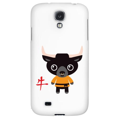 Ox on White - Geeks Designer Line Chinese Horoscope Series Hard Back Case for Samsung Galaxy S4