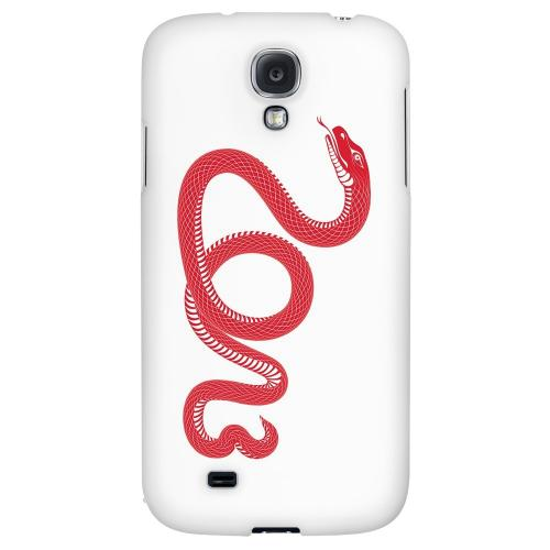 Red Snake - Geeks Designer Line Chinese Horoscope Series Hard Back Case for Samsung Galaxy S4