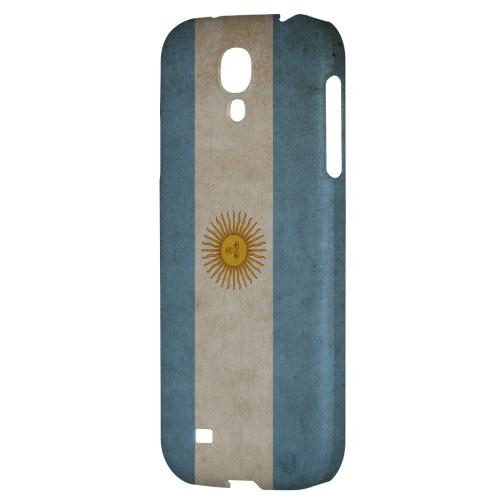Grunge Argentina - Geeks Designer Line Flag Series Hard Back Case for Samsung Galaxy S4