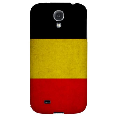 Grunge Belgium - Geeks Designer Line Flag Series Hard Back Case for Samsung Galaxy S4