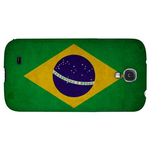Grunge Brazil - Geeks Designer Line Flag Series Hard Back Case for Samsung Galaxy S4