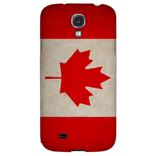 Grunge Canada - Geeks Designer Line Flag Series Hard Back Case for Samsung Galaxy S4