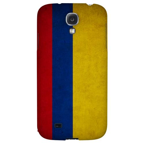 Grunge Colombia - Geeks Designer Line Flag Series Hard Back Case for Samsung Galaxy S4
