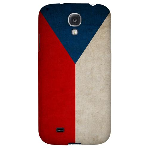 Grunge Czech Republic - Geeks Designer Line Flag Series Hard Back Case for Samsung Galaxy S4