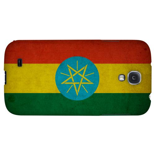 Grunge Ethiopia - Geeks Designer Line Flag Series Hard Back Case for Samsung Galaxy S4