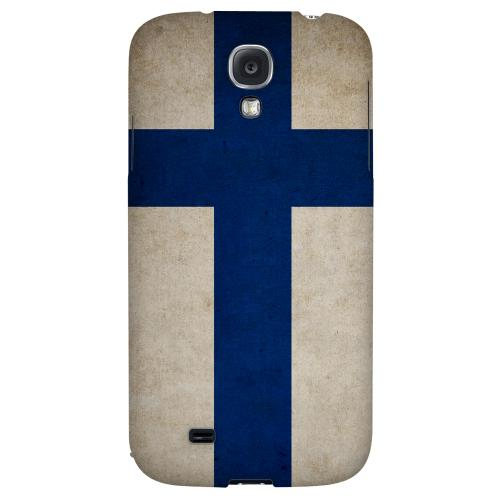 Grunge Finland - Geeks Designer Line Flag Series Hard Back Case for Samsung Galaxy S4