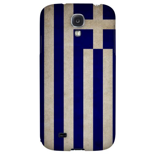 Grunge Greece - Geeks Designer Line Flag Series Hard Back Case for Samsung Galaxy S4