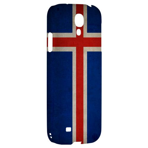 Grunge Iceland - Geeks Designer Line Flag Series Hard Back Case for Samsung Galaxy S4