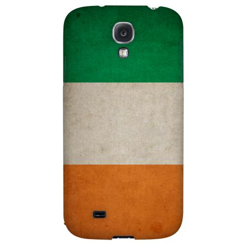 Grunge Ireland - Geeks Designer Line Flag Series Hard Back Case for Samsung Galaxy S4