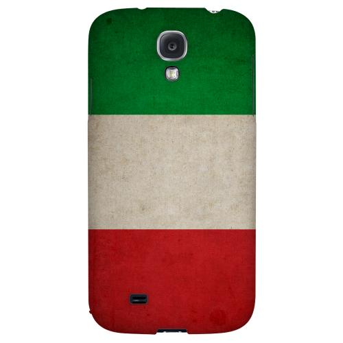 Grunge Italy - Geeks Designer Line Flag Series Hard Back Case for Samsung Galaxy S4