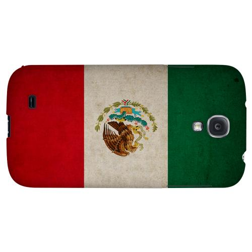 Grunge Mexico - Geeks Designer Line Flag Series Hard Back Case for Samsung Galaxy S4
