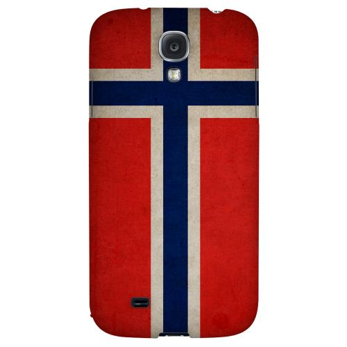 Grunge Norway - Geeks Designer Line Flag Series Hard Back Case for Samsung Galaxy S4