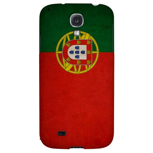 Grunge Portugal - Geeks Designer Line Flag Series Hard Back Case for Samsung Galaxy S4