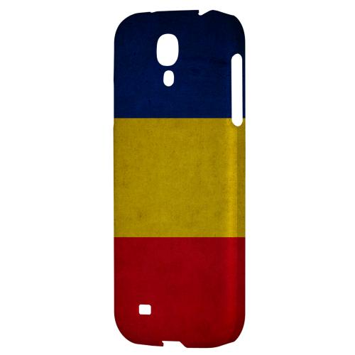 Grunge Romania - Geeks Designer Line Flag Series Hard Back Case for Samsung Galaxy S4