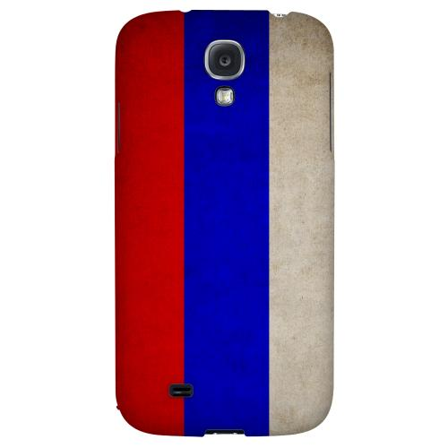 Grunge Russia - Geeks Designer Line Flag Series Hard Back Case for Samsung Galaxy S4