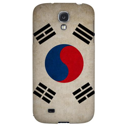 Grunge South Korea - Geeks Designer Line Flag Series Hard Back Case for Samsung Galaxy S4