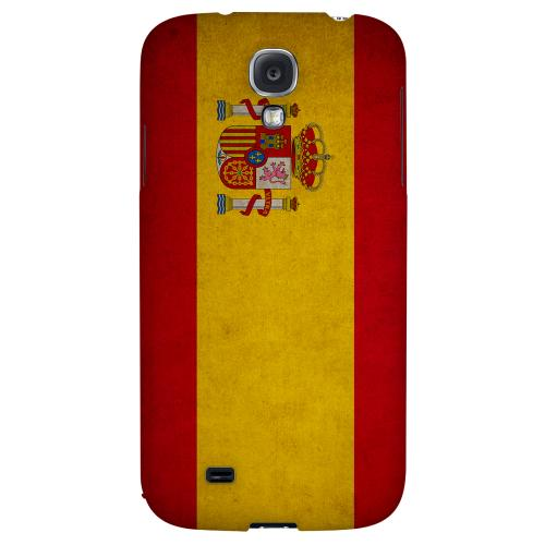Grunge Spain - Geeks Designer Line Flag Series Hard Back Case for Samsung Galaxy S4