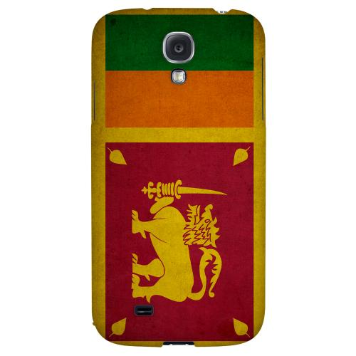 Grunge Sri Lanka - Geeks Designer Line Flag Series Hard Back Case for Samsung Galaxy S4