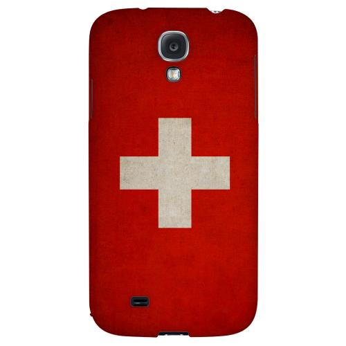 Grunge Switzerland - Geeks Designer Line Flag Series Hard Back Case for Samsung Galaxy S4