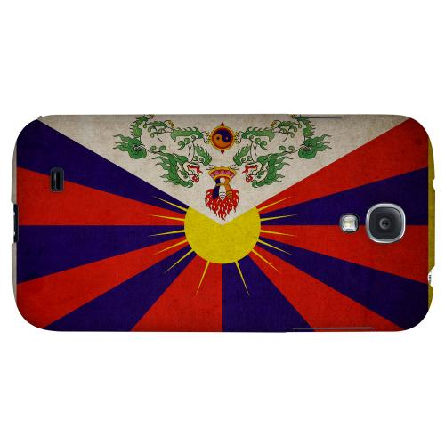 Grunge Tibet - Geeks Designer Line Flag Series Hard Back Case for Samsung Galaxy S4