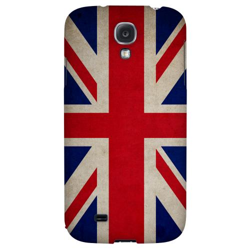 Grunge United Kingdom - Geeks Designer Line Flag Series Hard Back Case for Samsung Galaxy S4