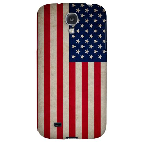 Grunge United States - Geeks Designer Line Flag Series Hard Back Case for Samsung Galaxy S4