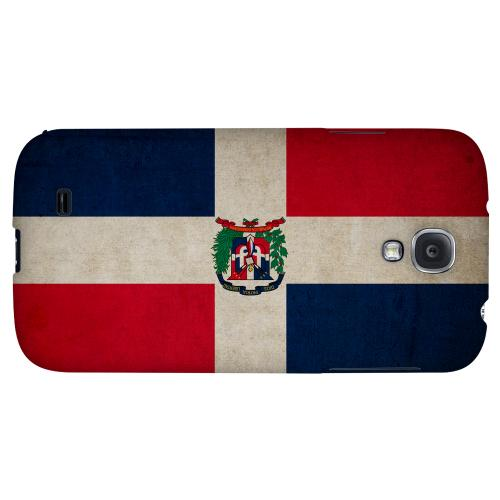 Grunge Dominican Republic - Geeks Designer Line Flag Series Hard Back Case for Samsung Galaxy S4