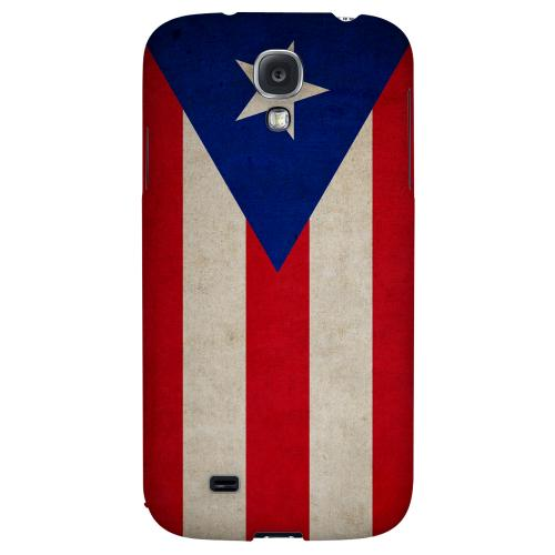 Grunge Puerto Rico - Geeks Designer Line Flag Series Hard Back Case for Samsung Galaxy S4