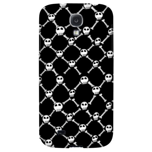 White Skull & Crossbones on Black - Geeks Designer Line Monster Mash Series Hard Back Case for Samsung Galaxy S4