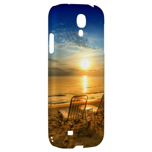 Beach Chair Sunrise - Geeks Designer Line Beach Series Hard Back Case for Samsung Galaxy S4