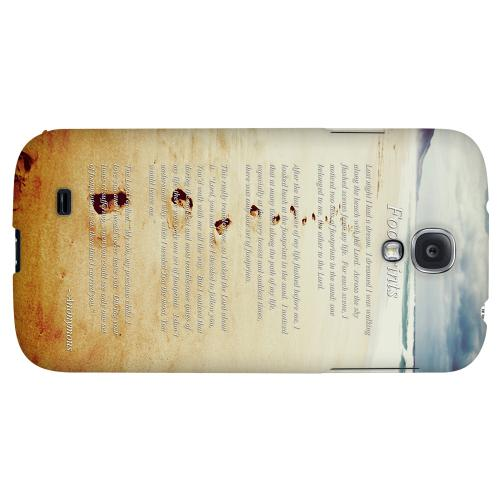 Footprints - Geeks Designer Line Beach Series Hard Back Case for Samsung Galaxy S4