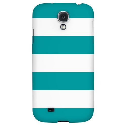 Big Aqua - Geeks Designer Line Stripe Series Hard Back Case for Samsung Galaxy S4