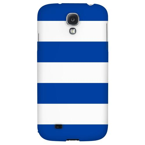 Big Blue - Geeks Designer Line Stripe Series Hard Back Case for Samsung Galaxy S4