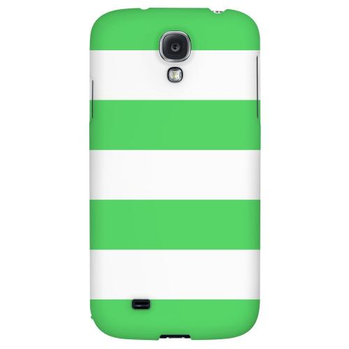 Big Green - Geeks Designer Line Stripe Series Hard Back Case for Samsung Galaxy S4