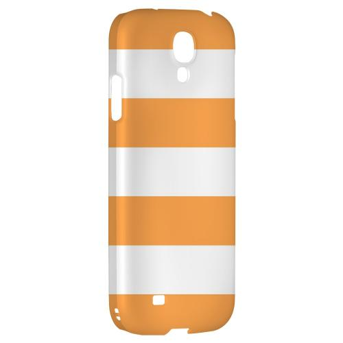 Big Orange - Geeks Designer Line Stripe Series Hard Back Case for Samsung Galaxy S4