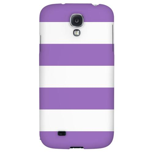 Big Purple - Geeks Designer Line Stripe Series Hard Back Case for Samsung Galaxy S4